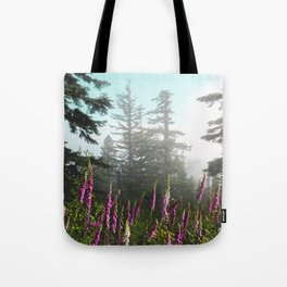 Misty Mountain Wildflowers Tote Bag