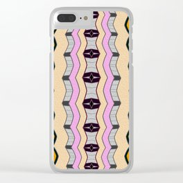 Retro Vintage Neo Tribal No. 3 Clear iPhone Case