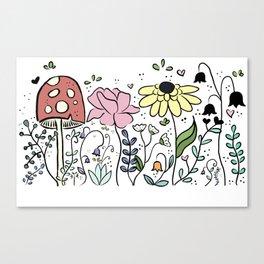 Saffron's garden Canvas Print
