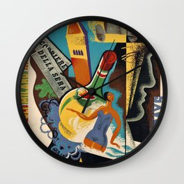 Italy Vintage Travel Poster Wall Clock