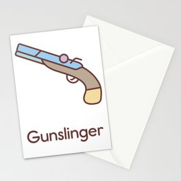 Cute Dungeons and Dragons Gunslinger class Stationery Cards