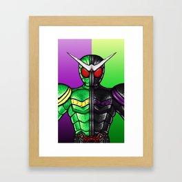 Kamen Rider Double Cyclone/Joker Framed Art Print