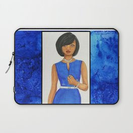 The Woman In Blue Laptop Sleeve