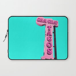 Cha-Cha's Tacos Retro Vintage Pink Sign Laptop Sleeve