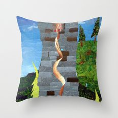 Let her hair down Throw Pillow