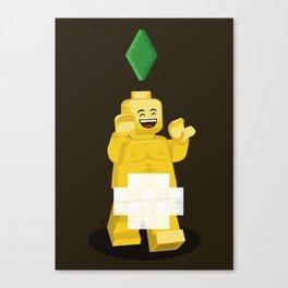 I want to brick free ! Canvas Print