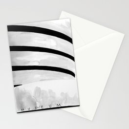 Architecture sketch of the Guggenheim Museum New York Stationery Cards