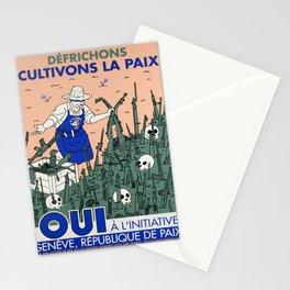 Advertisement defrichons cultivons la paix Stationery Cards