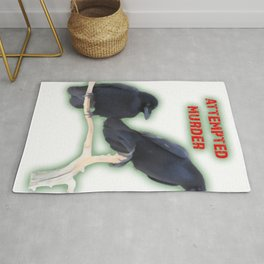 Attempted Murder Corvid Flock Rug