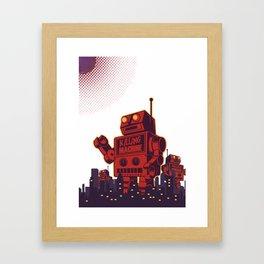 Robot City  Framed Art Print