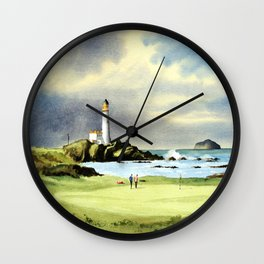 Turnberry Golf Course 10th Green Wall Clock