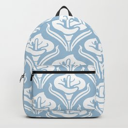 Calla Lily Pattern Light Blue Backpack