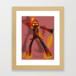 Flaming Kai Framed Art Print