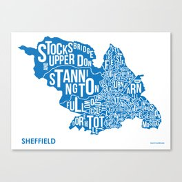 The Wards of Sheffield Canvas Print