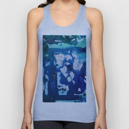 Orca Whale Marvels at the Melting Ice, Environmental # 4 Unisex Tank Top
