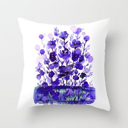 Floral Charm No.1A by Kathy Morton Stanion Throw Pillow