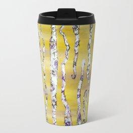 Aspen Trees Acrylic Painting Travel Mug