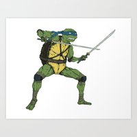 leonardo Art Prints featuring Leonardo by Neal Julian