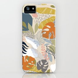 Tropical Foliage Pattern 1 - Retro Boho iPhone Case