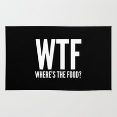 WTF Where's The Food (Black & White) Rug