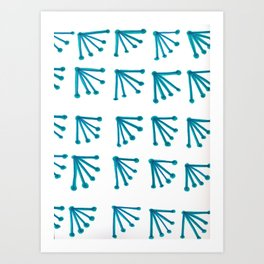 Blue Fans Art Print