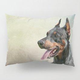 Drawing Doberman dog 2 Pillow Sham