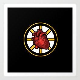 Bruins Have Heart #SpokedHeart Art Print