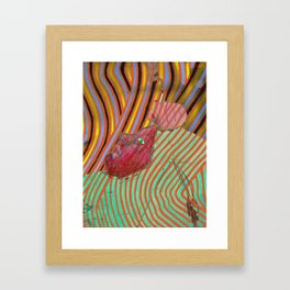 Laid back (with my mind on my money, and my money on my mind) Framed Art Print