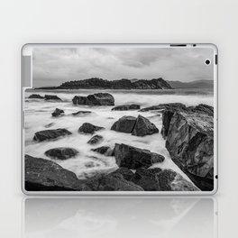 Rocky Ocean Black And White Laptop & iPad Skin