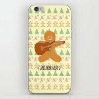 ed sheeran iPhone & iPod Skins featuring Gingerbread Ed by Laura Maria Designs