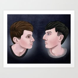 Dan and Phil Art Print