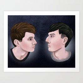 Dan and Phil Art Print