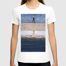 Blue and rain T-shirt
