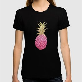 Ombre Pink Illustrated Pineapple T-shirt