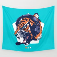 dj Wall Tapestries featuring DJ Wildcats by Steven Toang