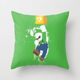 Luigi Paint Throw Pillow