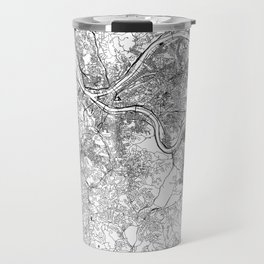 Pittsburgh White Map Travel Mug