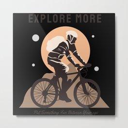 Explore more biker gifts Metal Print