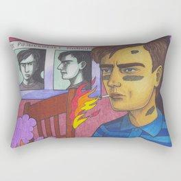 Twisted Firestarter Rectangular Pillow