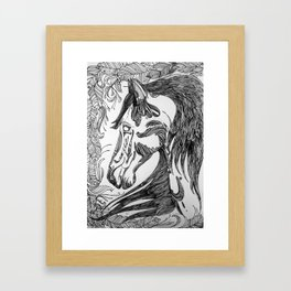 horseseven Framed Art Print