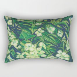 Expressionist Sweet Flowers Rectangular Pillow