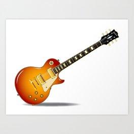 Cherry Sunburst Guitar Art Print