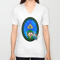 gravity falls V-neck T-shirts featuring Gravity Falls: Hyrule Falls by Macaluso