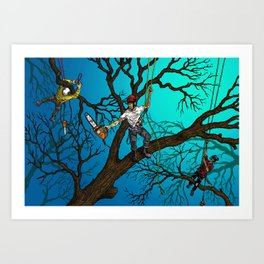 Tree Surgeons Art Print