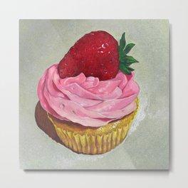 """Strawberry Cupcake"" Metal Print"