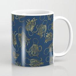 Gold Squid (Indigo) Coffee Mug