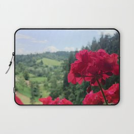 Geranium outside the window photography Laptop Sleeve