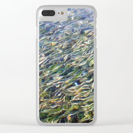 Sea Grass Through Rippling Water Clear iPhone Case