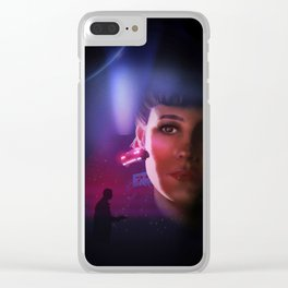 Rachael Blade Runner Poster Clear iPhone Case
