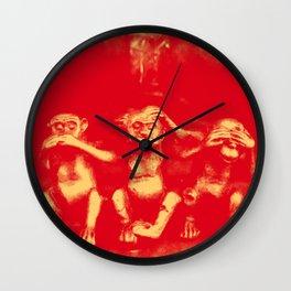 No Evil Wall Clock